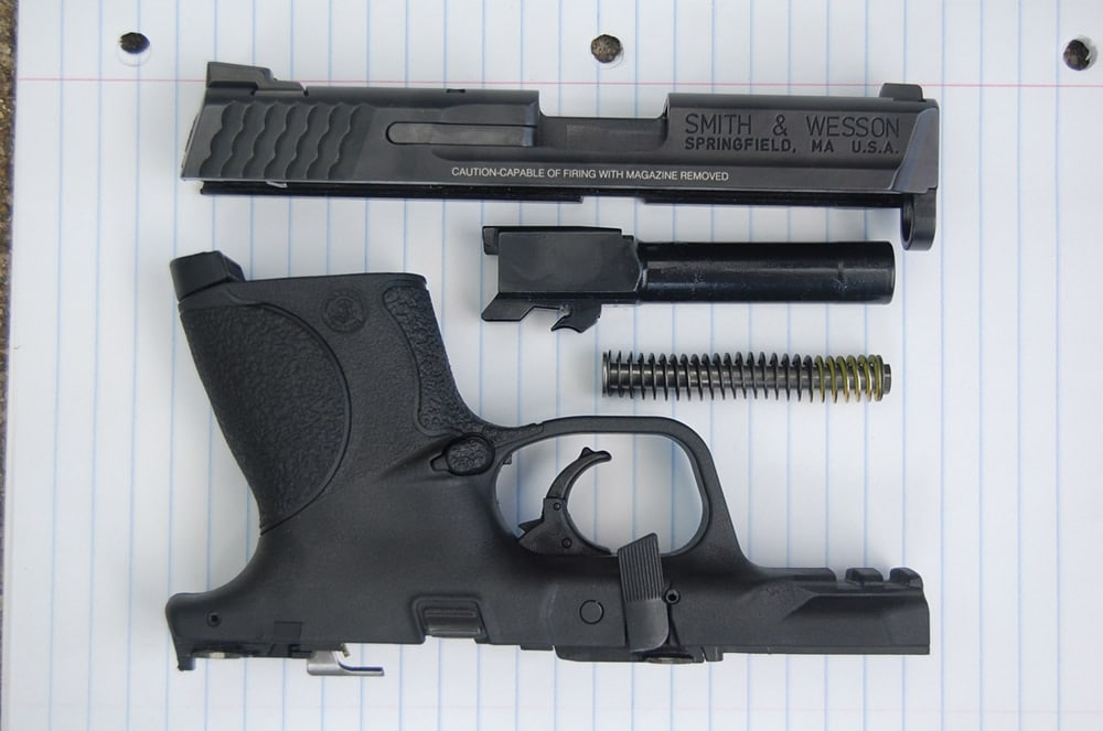 smith and wesson m and p 9c stripped parts