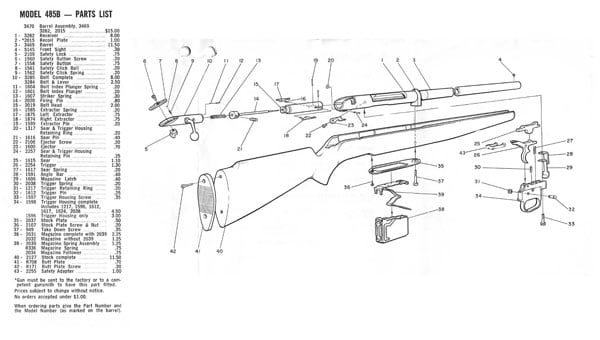 schematics for Mossberg bolt action shotguns