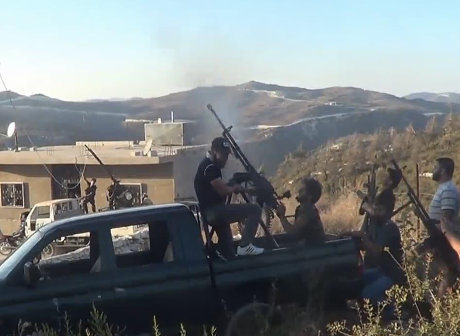syrian rebels shooting