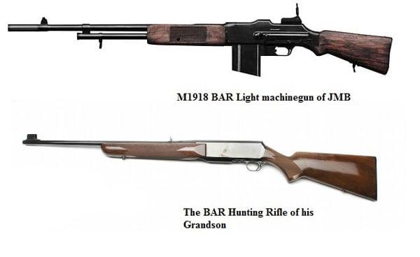 BAR light machine gun and BAR hunting rifle