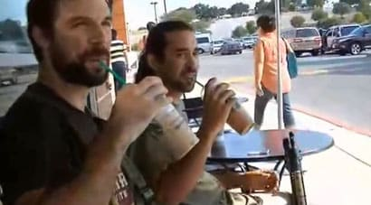 Nice day for some coffees and some open carry. (Photo: YouTube)