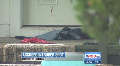 The homeowner gave the suspect ample warnings before shooting him, but the warnings were ignored. (Photo credit: KHOU)