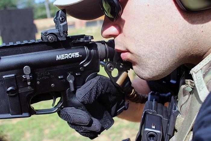 man shooting the MERC415