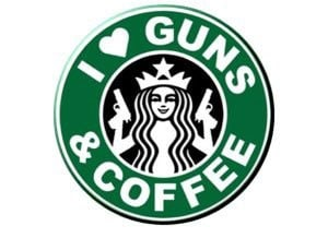 I mean, who doesn't love coffee and guns, right? (Photo: Facebook)