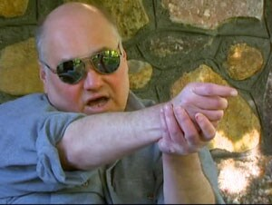 Steven Hopler felt that authorities tried to peg him as a danger simply because they were uncomfortable with the fact that he was a blind man with firearms, but he won the legal battle. (Photo credit: CBS)