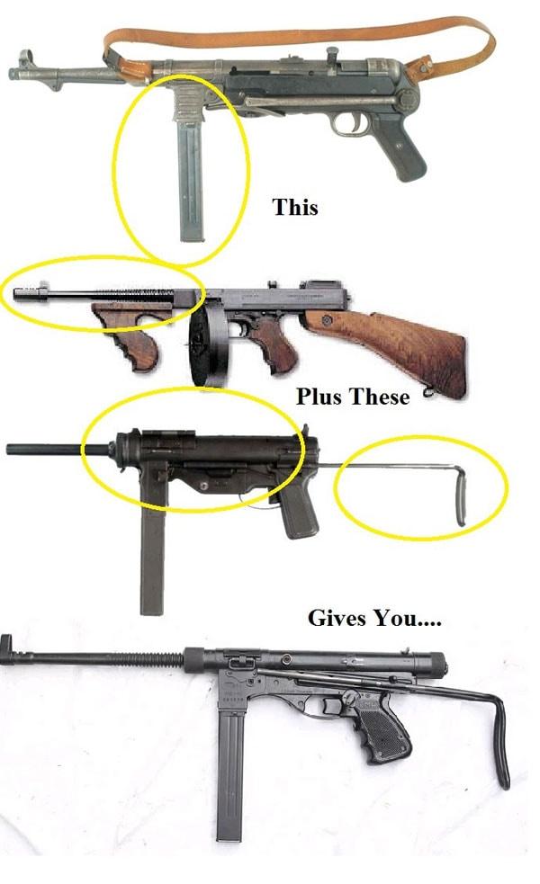 evolution of Vigneron machine gun