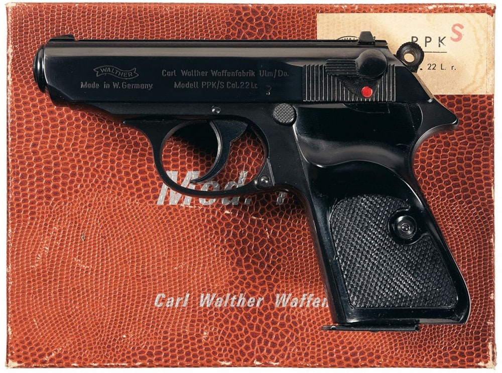 walther ppk sitting on a box