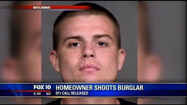 Right before he was shot, Aaron Fisher, who has a prior record for burglary and selling stolen goods, apparently told the homeowner that he was addicted to drugs. (Photo credit: Fox)