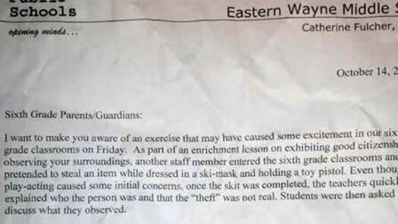 North Carolina middle school scares students by using fake