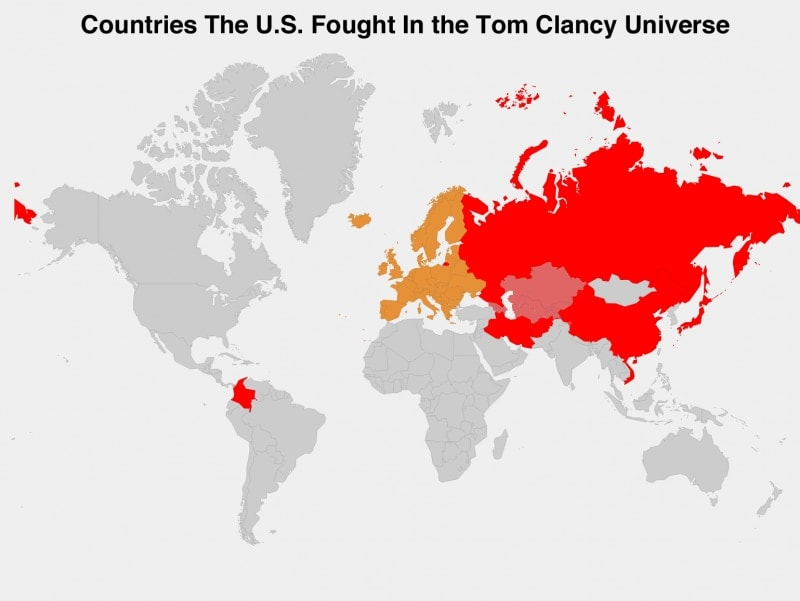 Countries The US Went To War With In Tom Clancy's Novels
