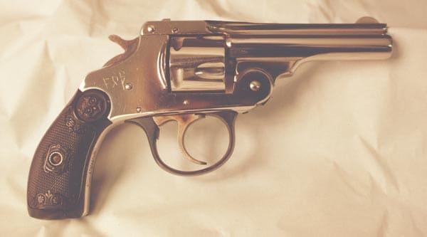 Czolgosz's .32-caliber Iver Johnson Safety Automatic revolver.