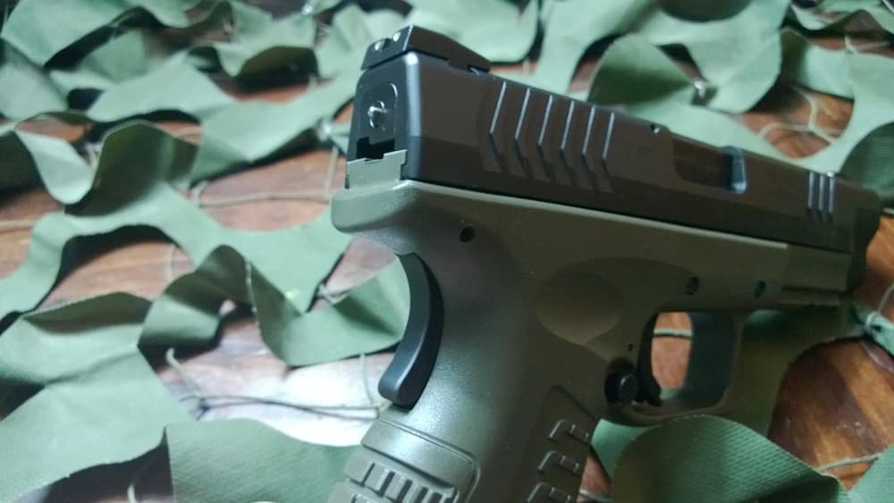The Springfield XD(M) has a loaded chamber (Photo by Shawn Smith)