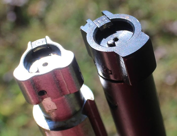 The Ruger's has a three lug, full diameter bolt. The 783 has two lugs.