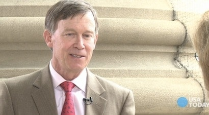 Colorado Governor John Hickenlooper.