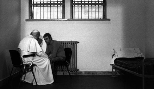 Pope John Paul II with assassin