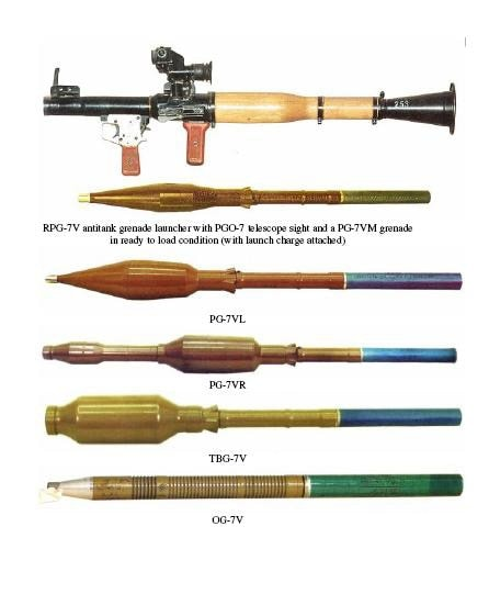 RPG7 with various grenades
