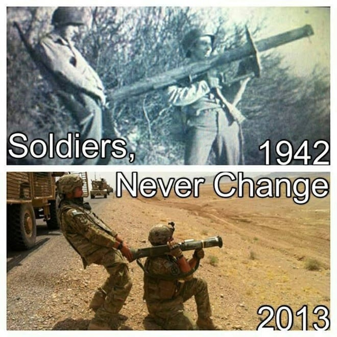 soldiers never change