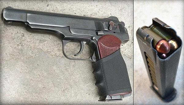 stechkin handgun with magazine