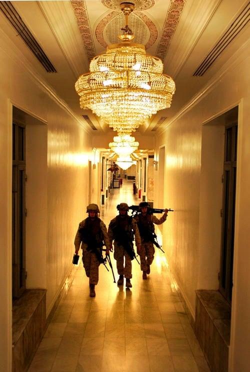 Marines Secure U.S. Embassy In Baghdad