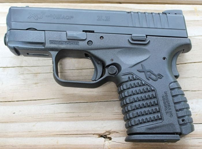 The Springfield Armory XDS. (Photo by David Higginbotham