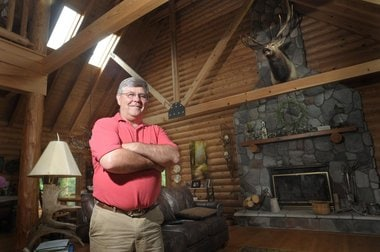 Sponsor of SB 610 state Sen. Mike Green at his home in Mayville, Michigan.  (Photo Credit: The Grand Rapids Press)