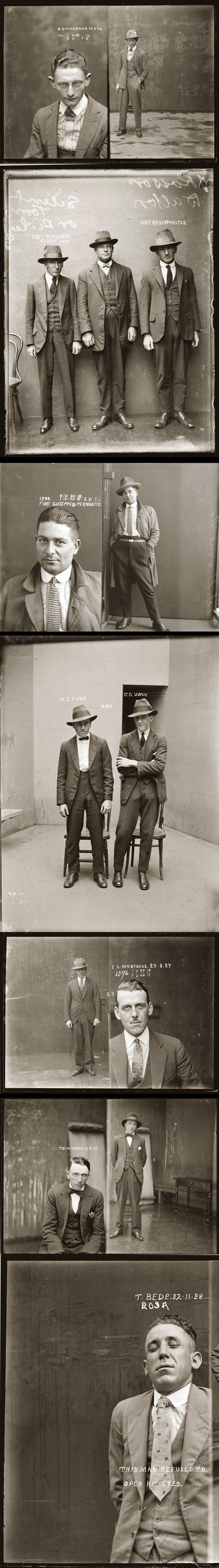 Police mugshots in the 1920s (3)