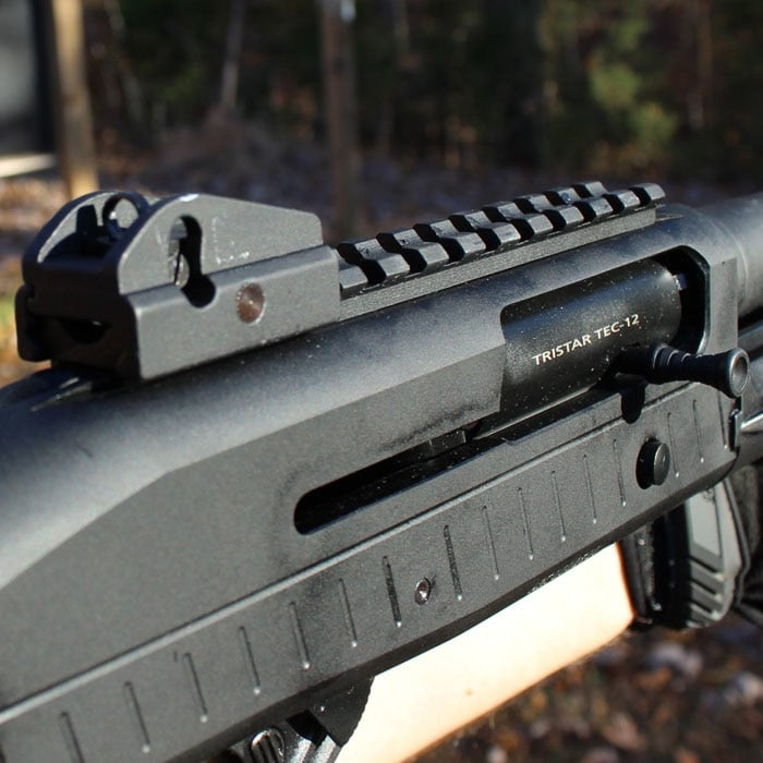 The rear sight is solid. (Photo by David Higginbotham)