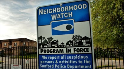 While the neighborhood watch signs are abundant in Sanford, the reality is that there are only four, soon to be five, groups for the city's 54,000 residents. (Photo credit: Getty)