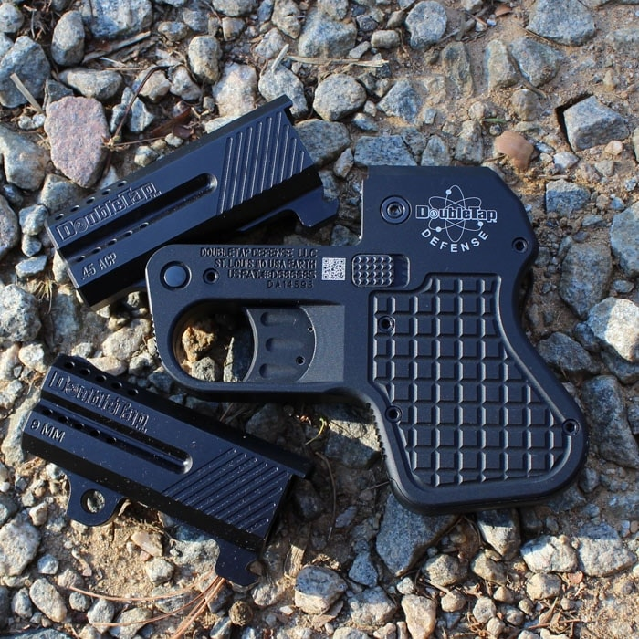 In .45 ACP or 9mm.