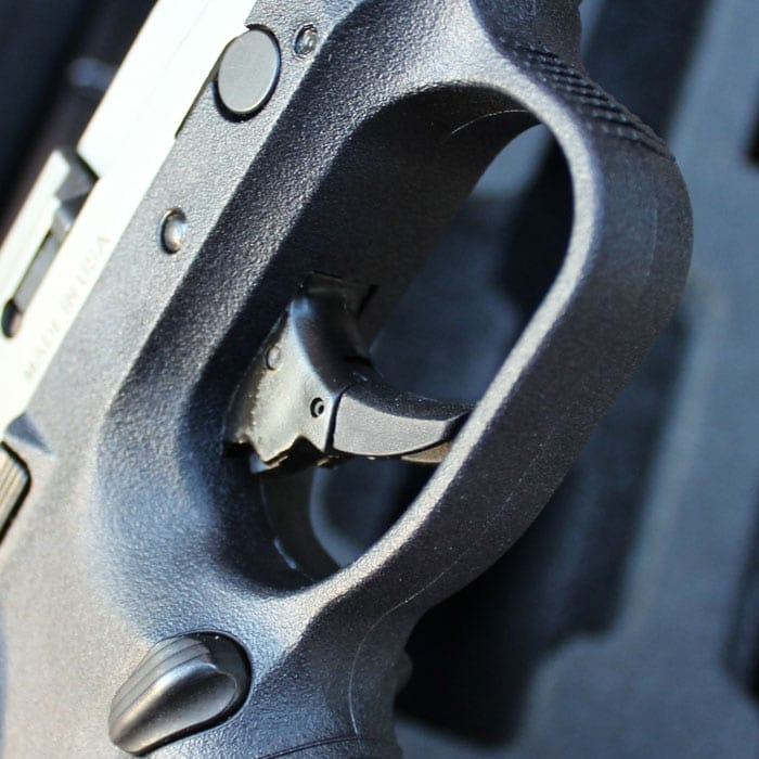 Mag release and slide release are on both sides. (Photo by David Higginbotham)