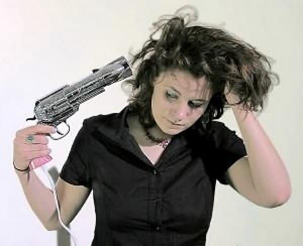 hair dryer gun