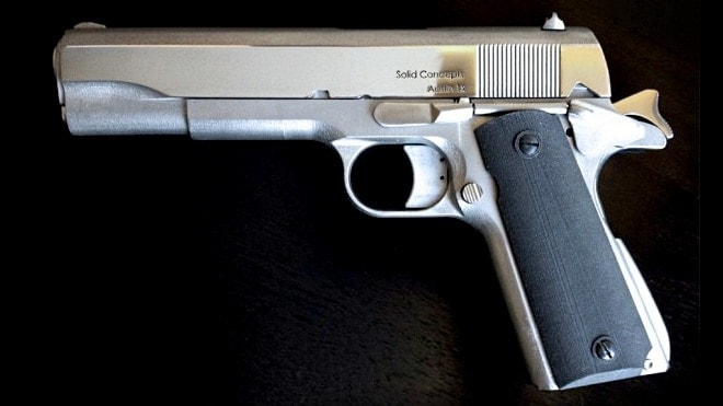 solid concepts 3d printed 1911 metal gun handgun pistol (2)