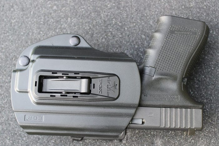 TacLoc holster with a C5L on a Glock 19. (Photo by David Higginbotham)