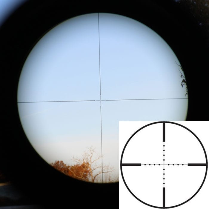 The etched reticle sizes up with the magnification. (Photo by David Higginbotham)