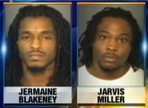The two suspects both had prior criminal records. (Photo credit: WSOCTV)