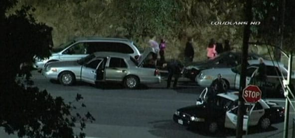 As a precautionary measure, police had nearby residents evacuate their homes during the investigation. (Photo credit: NBC)