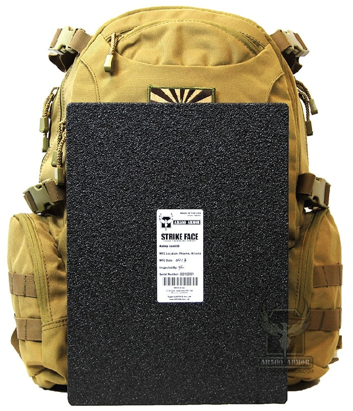 The backpack plate can be a shield or extra armor. (Photo credit AR500 Armor)
