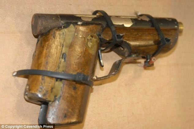 The unique homemade handgun which landed the UK farmer in jail. (Photo credit: Cavendish Press)