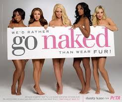 PETA's 'Go Naked' campaign.