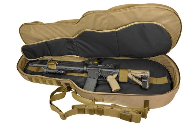 Rock on with the Hazard 4 BattleAxe Guitar-Shaped Padded Rifle Case