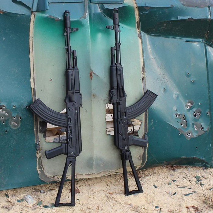 The two SLR107-34s we used for the review. (Photo by David Higginbotham)