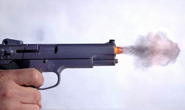 Smith & Wesson 4506 firing