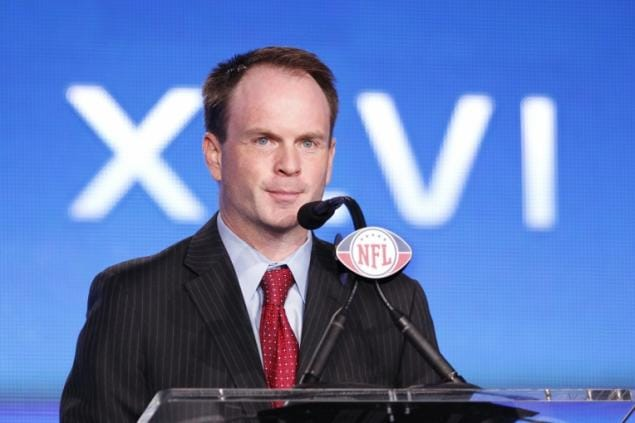 NFL Vice President of Communications Brian McCarthy calls DD's claim of commercial being banned by them as bogus. (Photo credit: NY Daily News)