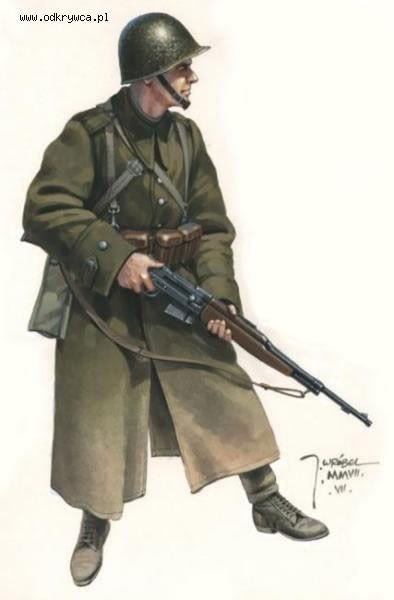 Polish soldier with WZ.38m