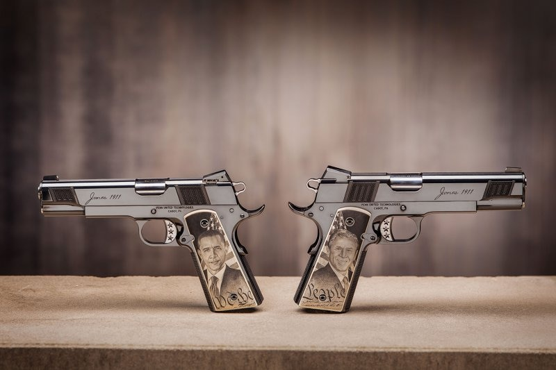 Political Directions - Left and Right Handed 1911's by Cabot Guns