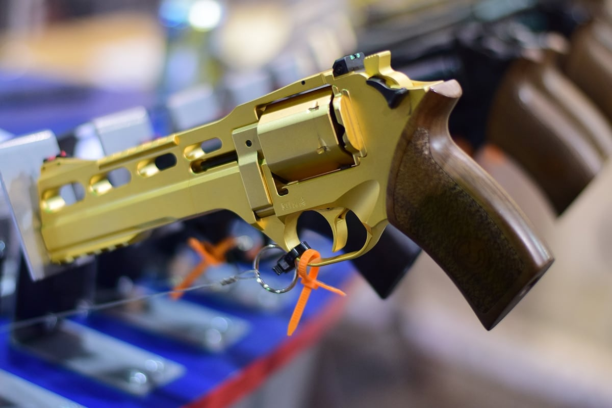 One shot kill? The Chiappa Rhino now comes in a discreet gold.
