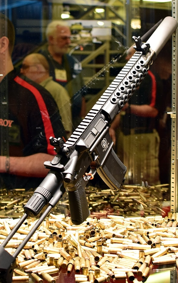Troy's New M7A1 combines subgun size with carbine power. Photo Credit: James Grant