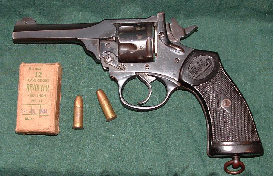 The gun is based on the WWII era Webley MKIV revolver, but in an even smaller caliber.