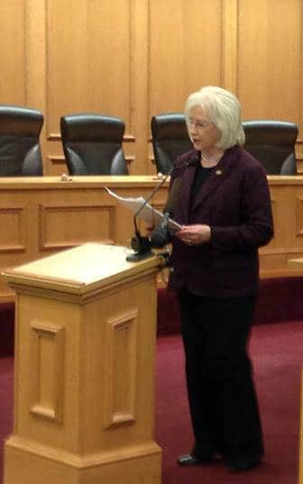 State Sen Mae Beavers introducing legislation this week. Photo Credit: Facebook