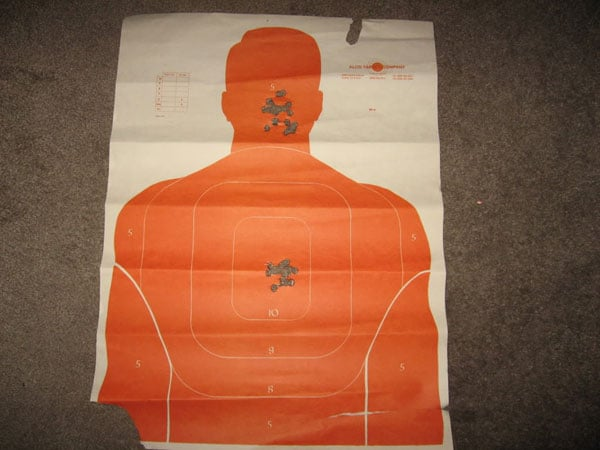 Grouping typical of a KRISS at 25 meters